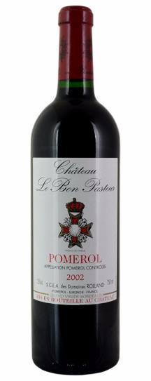 2002 Bon Pasteur Bordeaux Blend