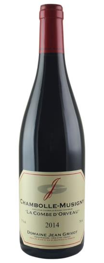 2014 Domaine Jean Grivot Chambolle Musigny Combe d'Orveaux