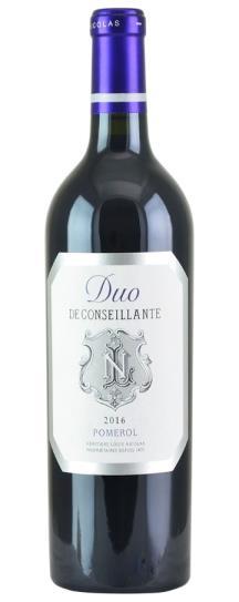 2016 Duo de Conseillante Bordeaux Blend