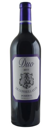 2011 Duo de Conseillante Bordeaux Blend
