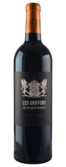 2015 Pichon-Longueville Baron Les Griffons de Pichon Baron