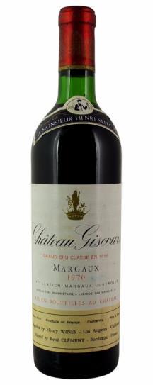 1970 Giscours Bordeaux Blend