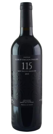 2015 Clos St Emilion Philippe Cuvee 115