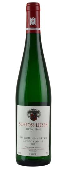 2016 Schloss Lieser (Thomas Haag) do not use Riesling Himmelreich Kabinett