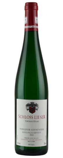 2016 Schloss Lieser (Thomas Haag) do not use Riesling Wehlener Sonnenuhr Kabinett