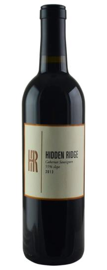 2013 Hidden Ridge Cellars Cabernet Sauvignon 55 degree slope