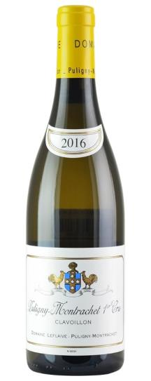 2016 Domaine Leflaive Puligny Montrachet Clavoillon