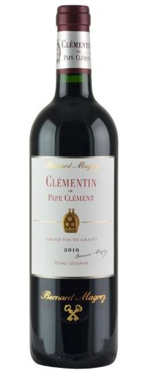 2016 Le Clementin (Pape Clement) Bordeaux Blend