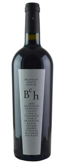 2005 Branson Wines Coach House Shiraz Greenock Block