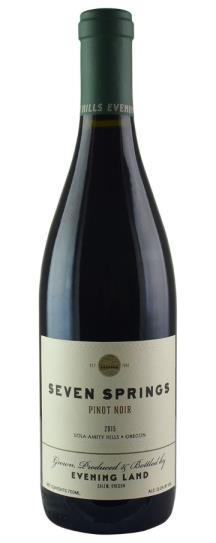 2015 The Evening Land Vineyards Seven Springs Vineyard Pinot Noir