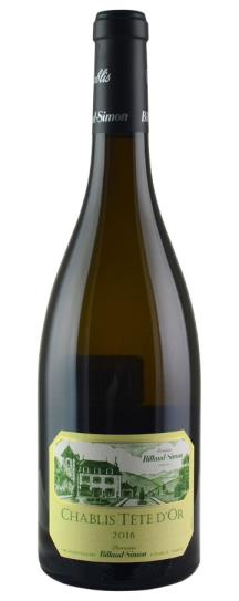 2016 Billaud-Simon Chablis Tete d'Or