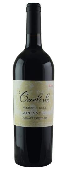 2016 Carlisle Winery Zinfandel DuPratt Vineyard