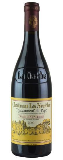 2009 Chateau de la Nerthe Chateauneuf du Pape Cuvee des Cadettes