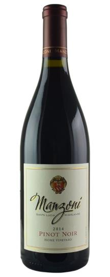2014 Manzoni Estate Vineyards Pinot Noir Home Vineyard
