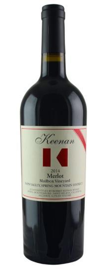 2014 Robert Keenan Merlot Mailbox Vineyard Spring Mountain Reserve