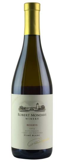 2014 Robert Mondavi Winery Fume Blanc To Kalon Estate Reserve
