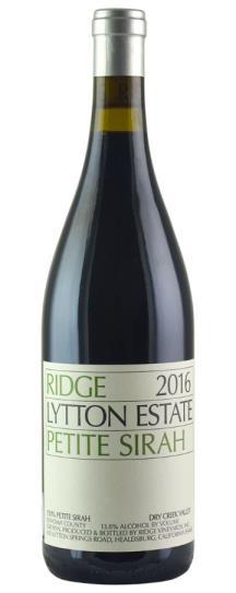 2016 Ridge Lytton Estate Petite Sirah