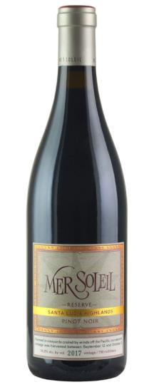 2017 Mer Soleil Pinot Noir Reserve Santa Lucia Highlands