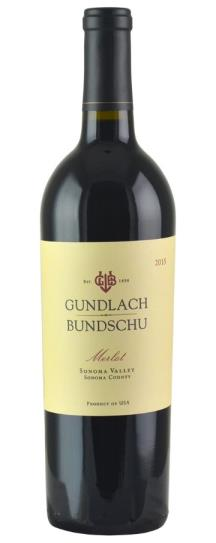 2015 Gundlach-Bundschu Merlot Estate Vineyard