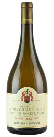 2016 Domaine Ponsot Morey St Denis Clos des Monts Luisants Vieilles Vignes White