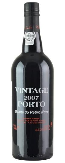 2007 Wiese and Krohn Vintage Port Quinta do Retiro Novo