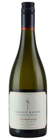 2018 Craggy Range Sauvignon Blanc Te Muna Road Vineyard