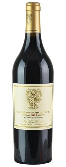 2015 Kapcsandy Family Winery Roberta's Reserve State Lane Vineyard