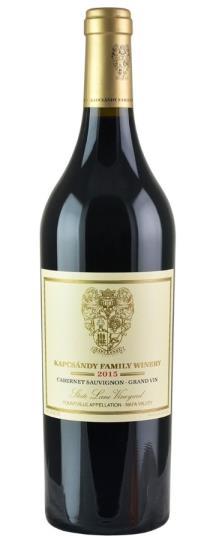 2015 Kapcsandy Family Winery Cabernet Sauvignon Grand Vin  State Lane Vineyard