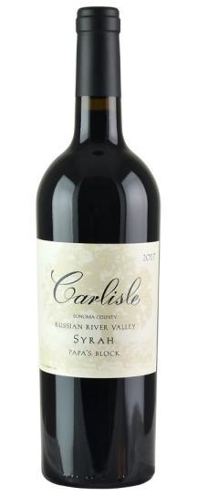 2017 Carlisle Winery Syrah Papa's Block
