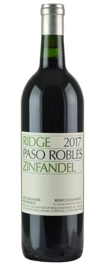 2017 Ridge Zinfandel Paso Robles