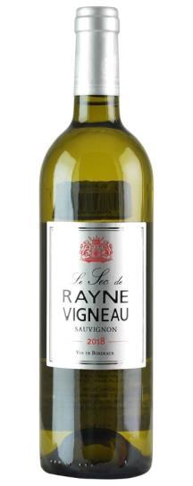 2018 Chateau de Rayne Vigneau Le Sec de Rayne Vigneau