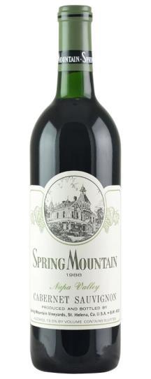 1988 Spring Mountain Vineyard Cabernet Sauvignon