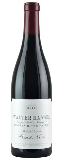 2019 Walter Hansel Winery Pinot Noir Estate