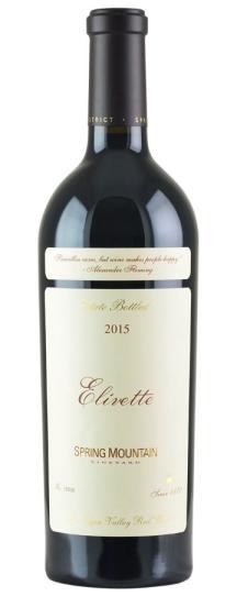 2015 Spring Mountain Vineyard Elivette