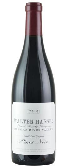2016 Walter Hansel Winery Pinot Noir Cahill Lane