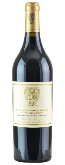 2016 Kapcsandy Family Winery Cabernet Sauvignon Grand Vin  State Lane Vineyard