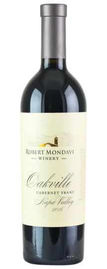 2016 Robert Mondavi Winery Oakville Cabernet Franc