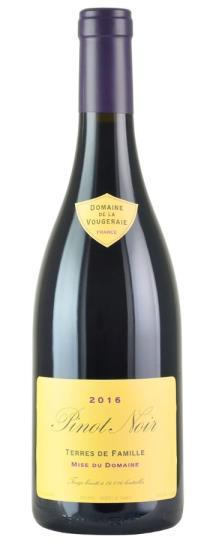 2016 Domaine de la Vougeraie Bourgogne Rouge Terres de Famille