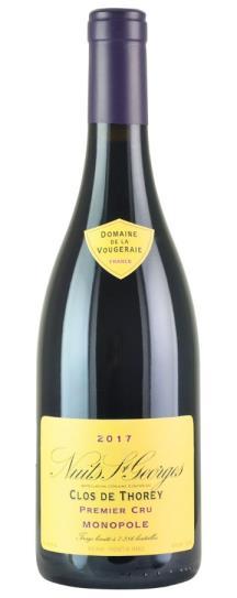2017 Domaine de la Vougeraie Nuits St Georges Clos de Thorey