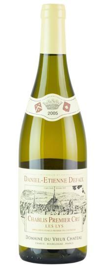 2005 Daniel-Etienne Defaix Chablis Les Lys