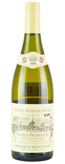 2005 Daniel-Etienne Defaix Chablis Cote de Lechet