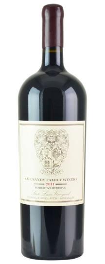 2011 Kapcsandy Family Winery Roberta's Reserve State Lane Vineyard