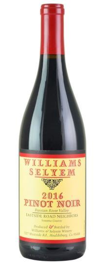 2016 Williams Selyem Pinot Noir Eastside Road Neighbors