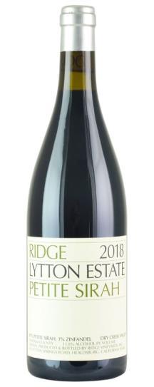 2018 Ridge Lytton Springs Petite Sirah