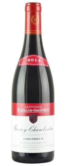 2014 Harmand-Geoffroy Gevrey Chambertin Clos Prieur
