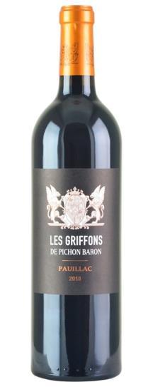 2018 Pichon-Longueville Baron Les Griffons de Pichon Baron