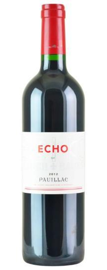 2012 Echo de Lynch Bages Bordeaux Blend