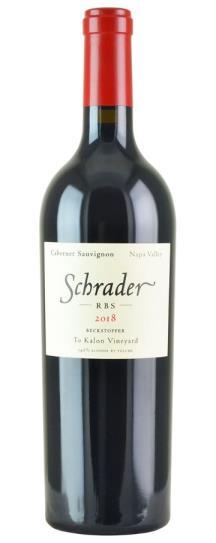 2018 Schrader Cellars Cabernet Sauvignon RBS Beckstoffer To Kalon Vineyard