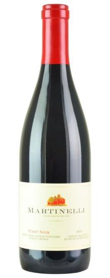 2019 Martinelli Pinot Noir Bondi Home Ranch Water Trough Vineyard