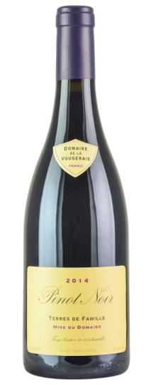 2014 Domaine de la Vougeraie Bourgogne Rouge Terres de Famille